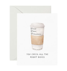 amy zhang tall dark handsome coffee card