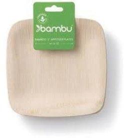 """Bambu Veneerware Plate Square Appetizer Plate 5"""""""