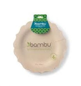 "Bambu Veneerware Fancy Plate 9"""