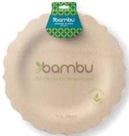 "Bambu Veneerware Fancy Plate 11"""