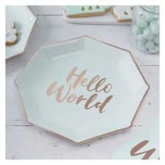 Hello World Paper Plates