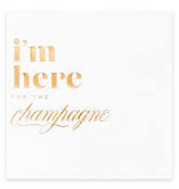 kitty meow I'm Here for the Champagne Cocktail Napkins