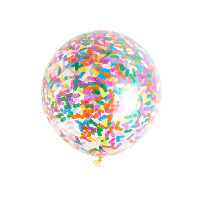 Jumbo Ice Cream Sprinkles Confetti Balloon