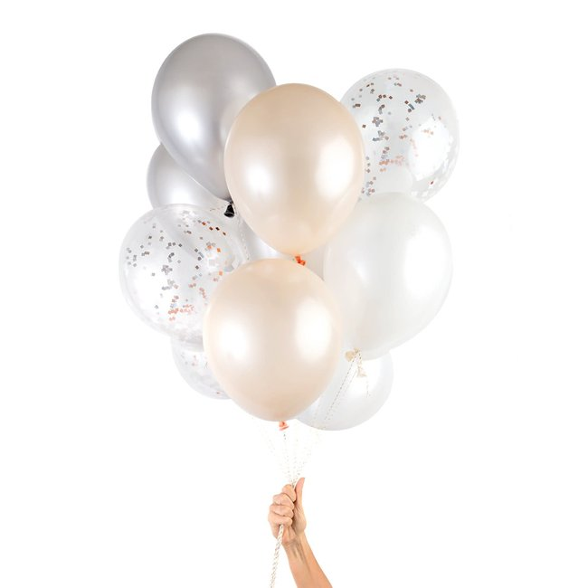 Blush Copper Party Balloons