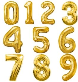 "LA Balloons 34"" Foil Numbers (Multiple Colors)"