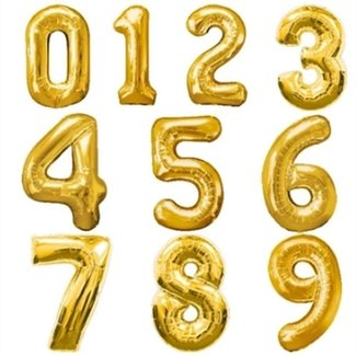 "34"" Foil Numbers (Multiple Colors)"