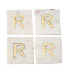 Be Home White & gold Coasters R
