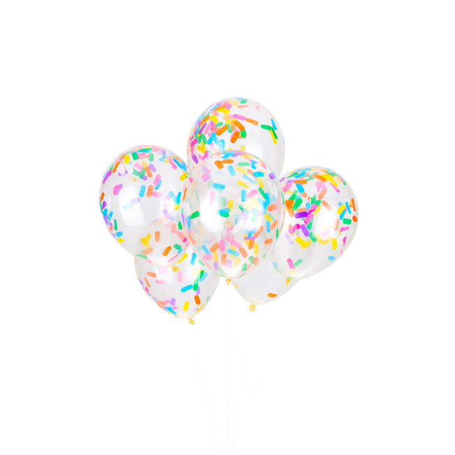 Ice Cream Sprinkles Classic Confetti Balloons