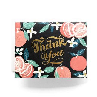 Grapefruit Thanks Card