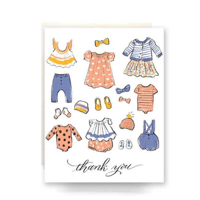 Baby Clothes Thank You Card