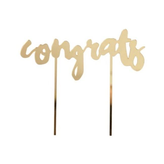 Congrats Gold Cake Topper