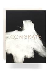 Brushed Congrats Card