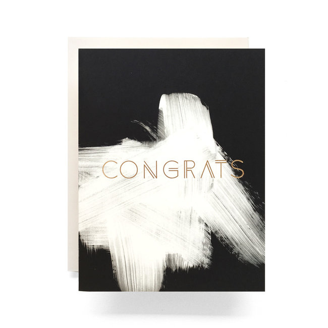Brushed Congrats Card