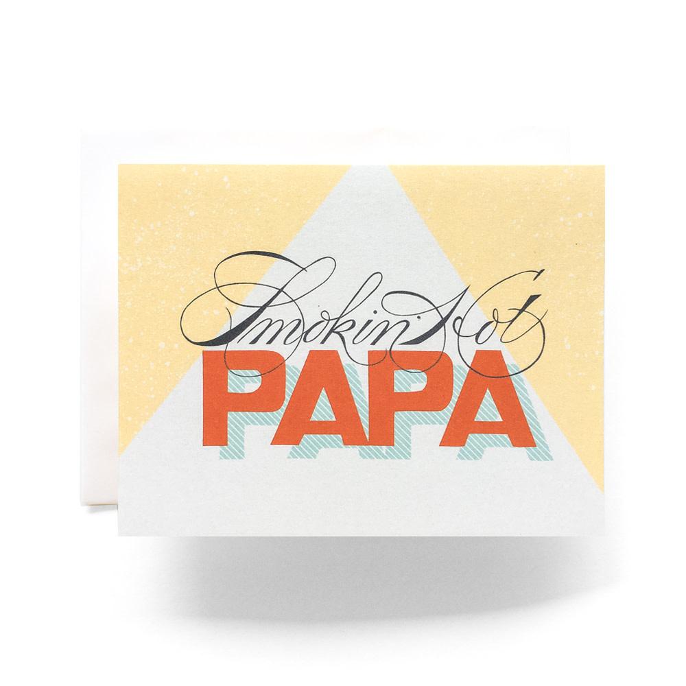 Smokin' Hot Papa Card