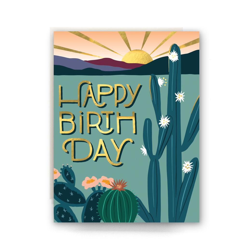 Desert Morning Bday Card