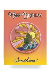 Patch Greeting Card Cactus Sunset BDAY