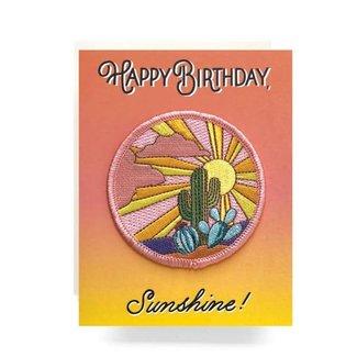 Patch Greeting Card Cactus Sunset Birthday