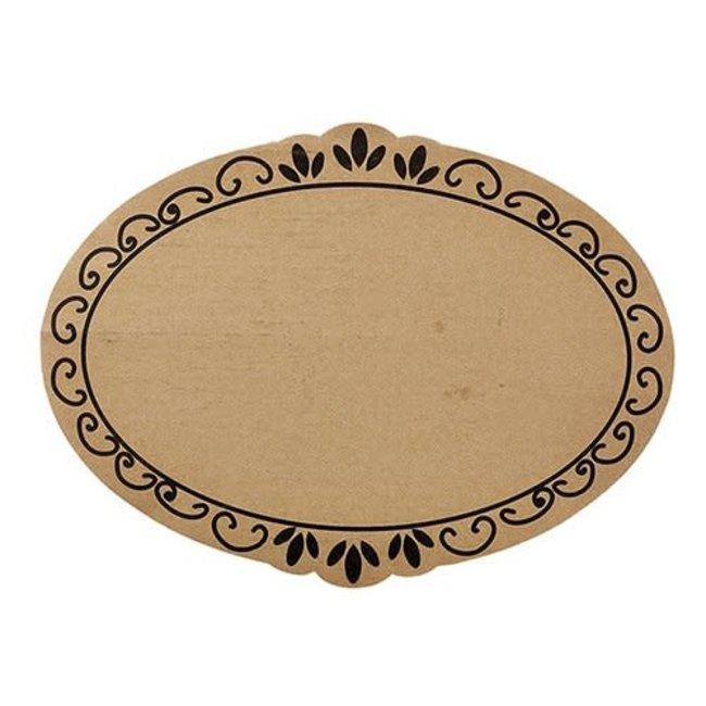 Cardboard Tray- Ornate 6/pk