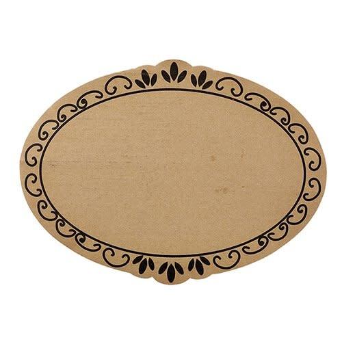 santa barbara design Cardboard Tray- Ornate 6/pk