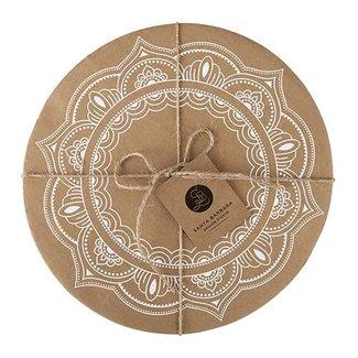 Cardboard Tray- Mandala 6/pk