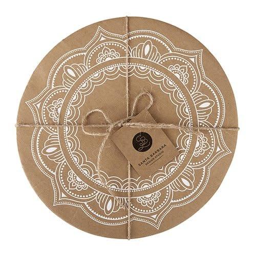 santa barbara design Cardboard Tray- Mandala 6/pk