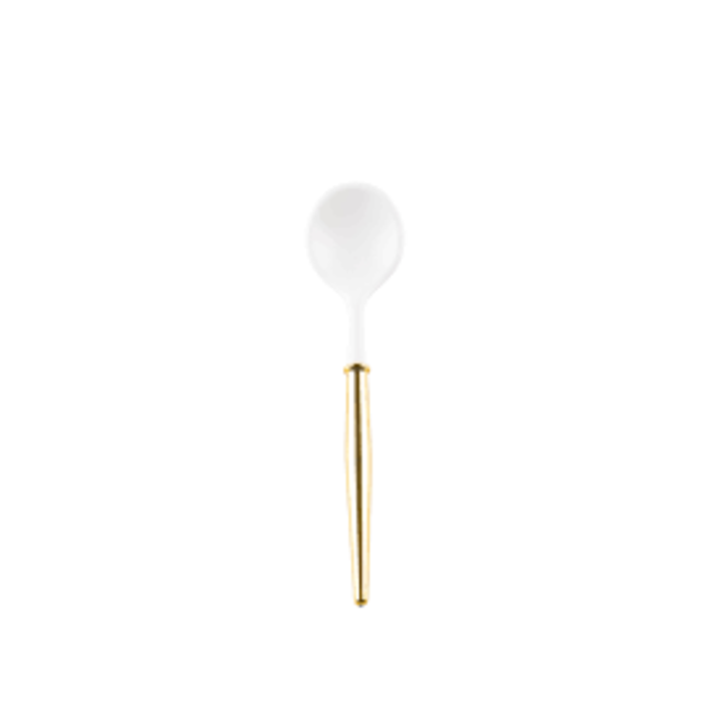 White & Gold Cocktail Spoon S/20