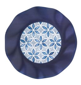 Sophistiplate Wavy Salad Plate Indigo