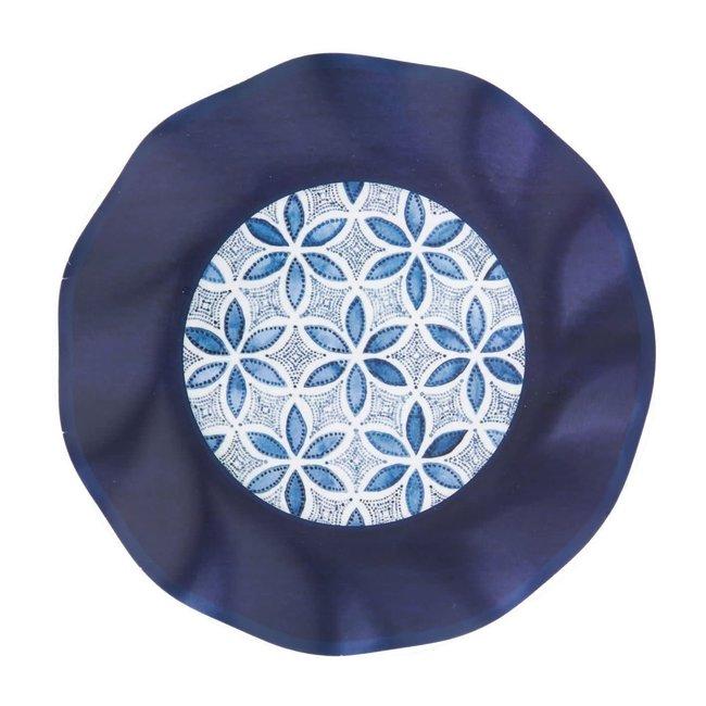 Wavy Salad Plate Indigo