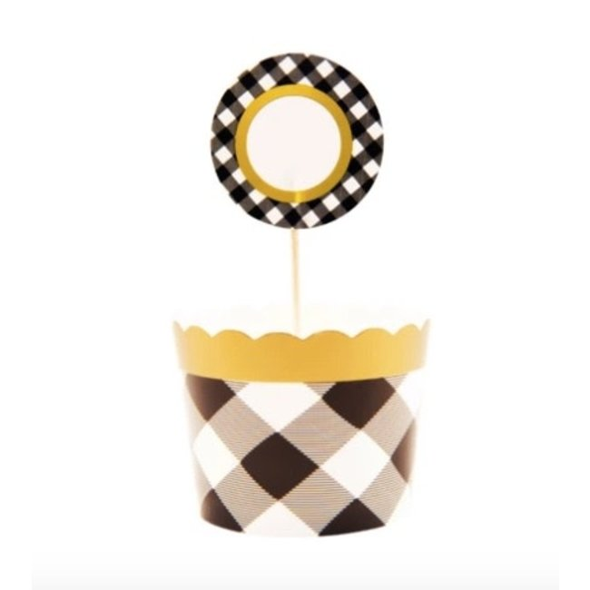 black buffalo baking cups and toppers