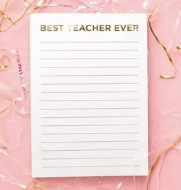 taylor elliott designs Best Teacher Ever Notepad