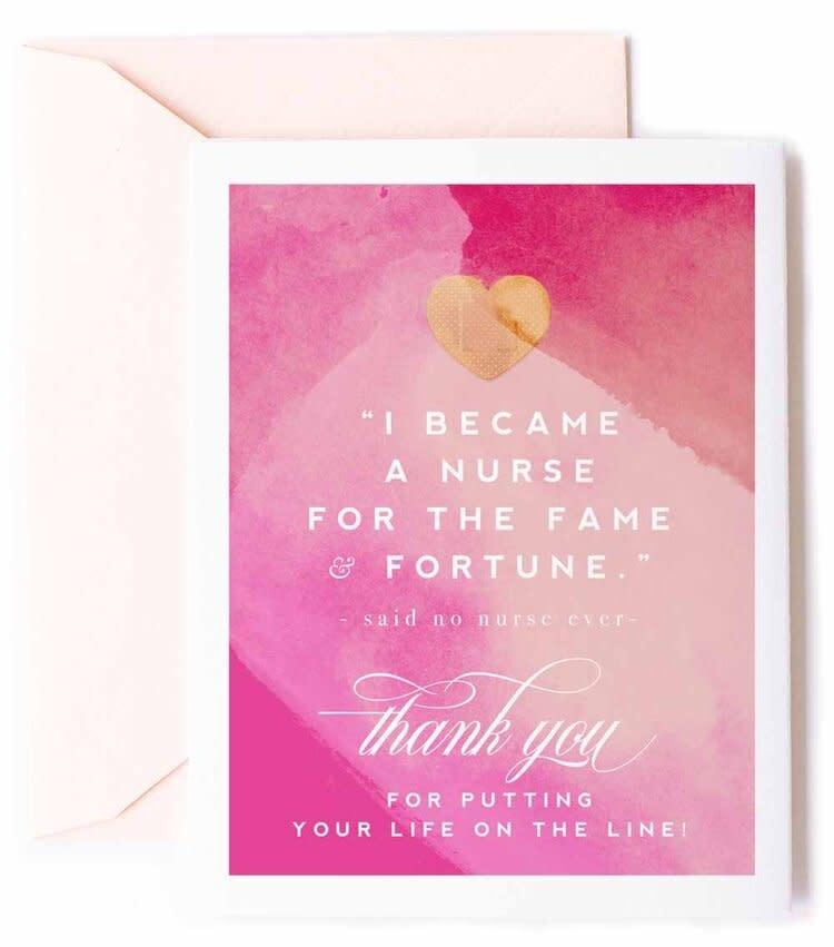 kitty meow Thank You Nurse Card