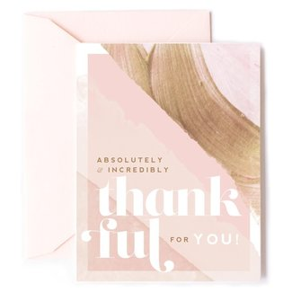 absolutely & incredibly thankful card