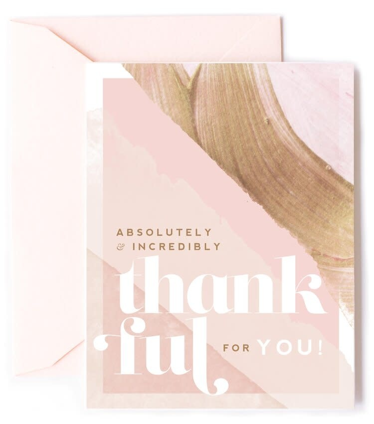 kitty meow absolutely & incredibly thankful card
