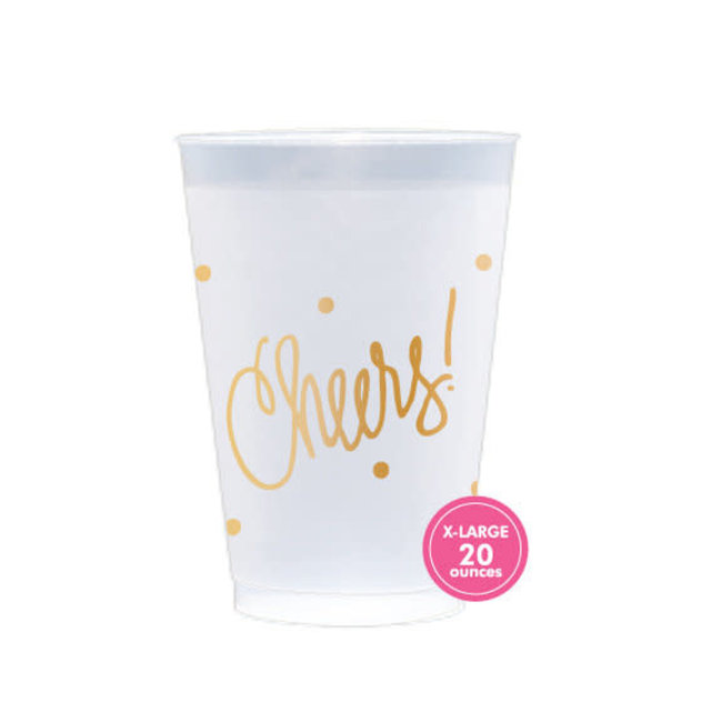 Cheers Frosted Plastic Cups 20oz