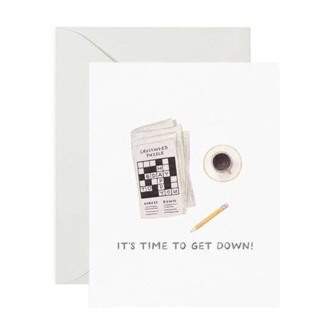Crossword Bday card