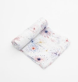 Little Unicorn Fireworks Cotton Muslin Swaddle Single