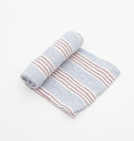 Little Unicorn Stitch Stripes Cotton Muslin Swaddle Single