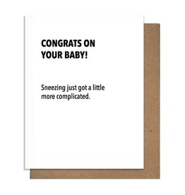 Pretty Alright Sneezing Baby Card