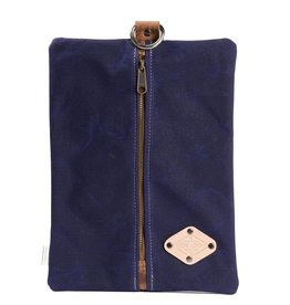 Lifetime Leather Co Flat Pack - Waxed Canvas - Blue