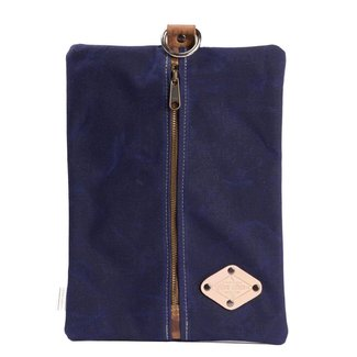 Flat Pack - Waxed Canvas - Blue