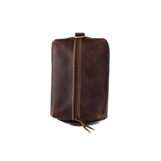 Lifetime Leather Co Heirloom Toiletry Travel Bag - Oxford Brown