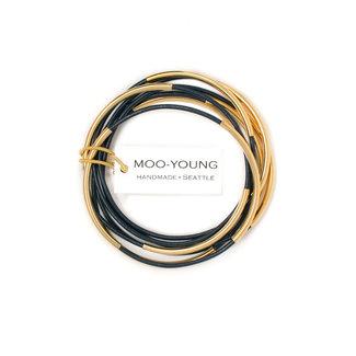 Moo-Young Skinny Bangles Navy