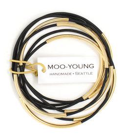 Moo-Young Skinny Bangles Matte Black