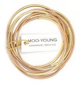 Moo-Young Skinny Bangles New Nude