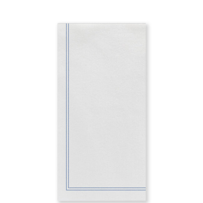 vietri Papersoft Napkins Linea Blue Guest Towels S/50