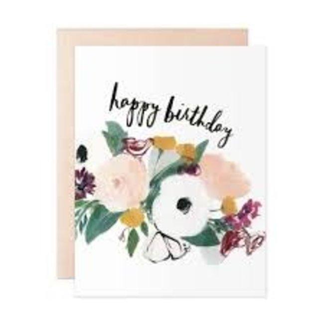 Anemone Birthday Card