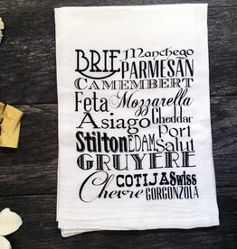 Coin Laundry Cheese Typography Tea Towel