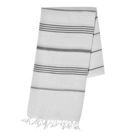 slate + salt Oversized Classic Blk Stripe Turkish Towel