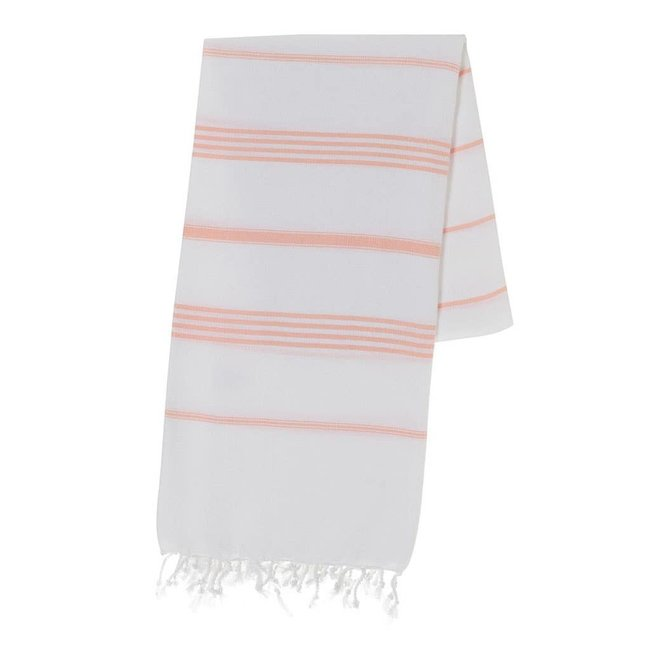 slate + salt Oversized Melon Stripe Turkish Towel