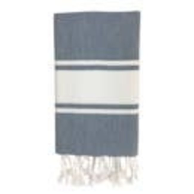 Essential Stripe Steel Turkish Hand Towel